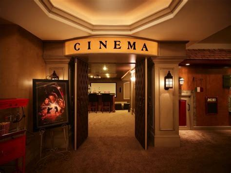 The Entrance Of A Cinema Hotel Or Theatre Home Theater Entrance Theater Basement