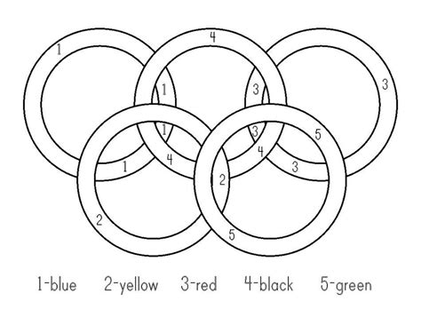 olympic rings colors olympic rings coloring pages center play olympic