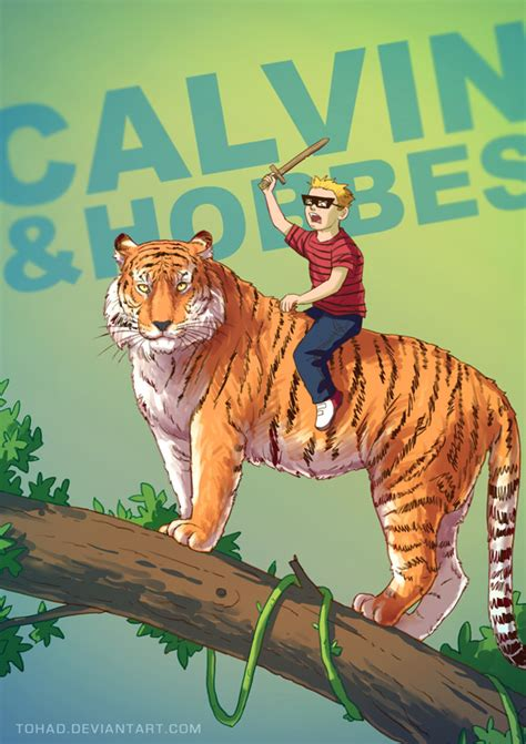 calvin and hobbes badass by tohad on deviantart