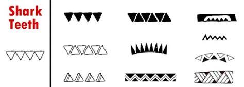 polynesian triangle pattern tattoo meaning polynesian tattoo symbols meanings shark teeth
