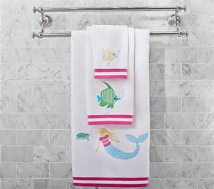 mermaid bath towels the sea mermaid bath towel collection pottery barn