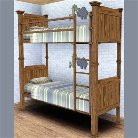 sims 3 beds the bunk bed from forest bungalow by chemicalwibs the exchange community the sims 3