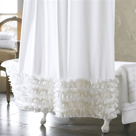 white ruffle shower curtain ruffled shower curtain