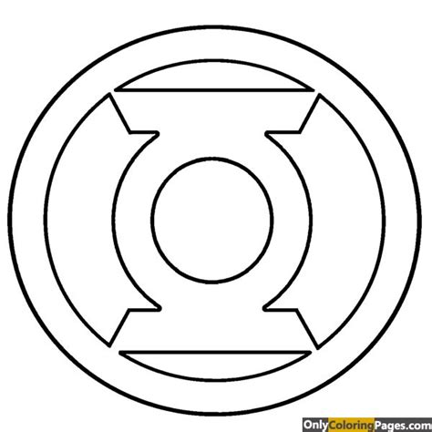 green lantern coloring pages free printable green lantern logo coloring pages free printable online