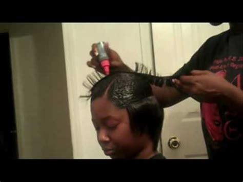 black hair style what is a duby hairstyle quick weave with outre feather hair youtube