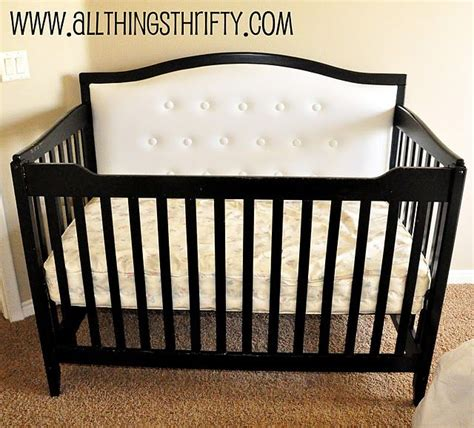 Diy Crib To Toddler Bed Diy Tufted Headboard Crib Nursery Ideas
