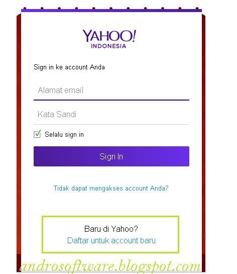 cara membuat email yahoo melalui sms cara membuat email yahoo terbaru maxandro