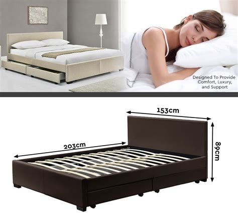 King Size Bed Frame With Storage Drawers King Size Bed Frame With 4 Storage Drawers In 6 Fabrics Colours Ebay