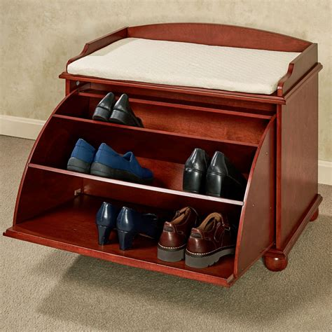 storage shoe bench aubrie wooden shoe storage bench