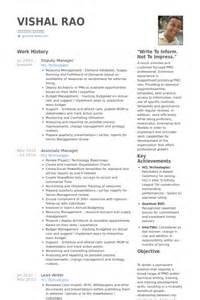 Deputy Manager Sle Resume by Deputy Manager Resume Sles Visualcv Resume Sles Database