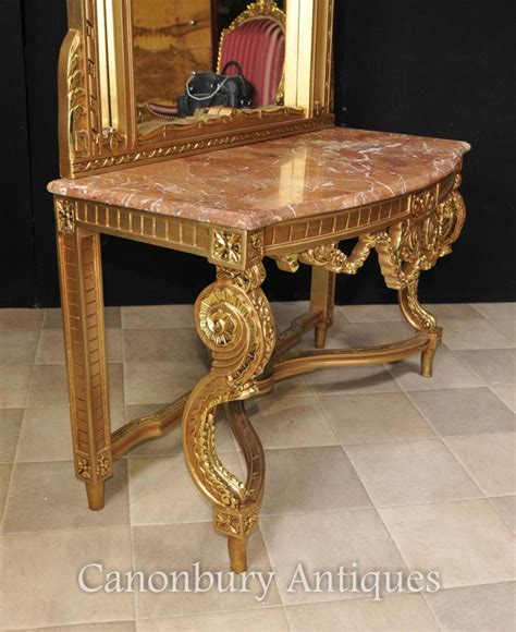 Sofa Table And Mirror Set Empire Gilt Console Table And Mirror Set