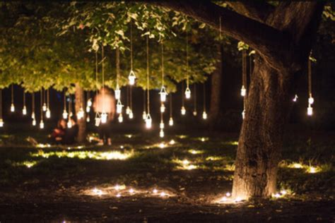 Mason Jar Patio Lights Lights In Forest Shared By Chanseri On We Heart It