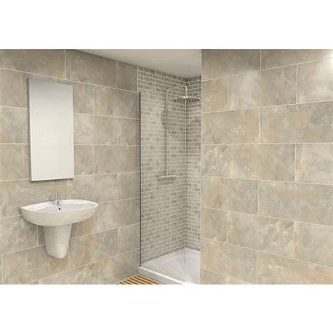 wickes bathroom wall tiles wickes onyx verde gloss wall tile 300x600mm new bathroom