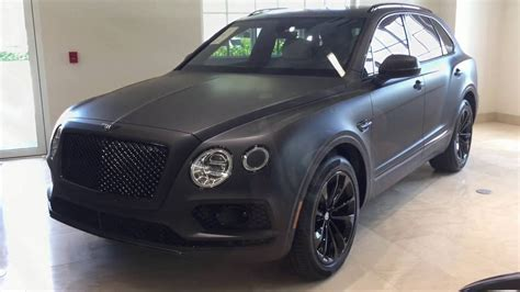 bentley suv matte black bentley bentayga stealth edition is the one with a