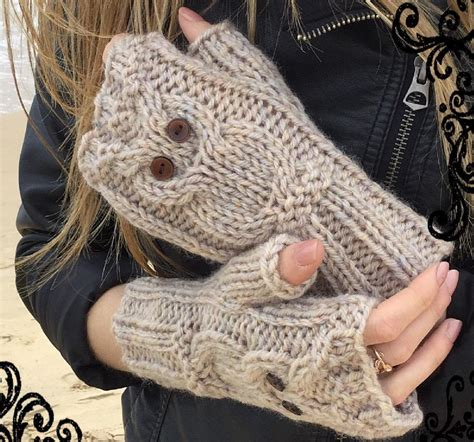 knitting pattern owl fingerless gloves play owl mitts knitting pattern by the lonely sea