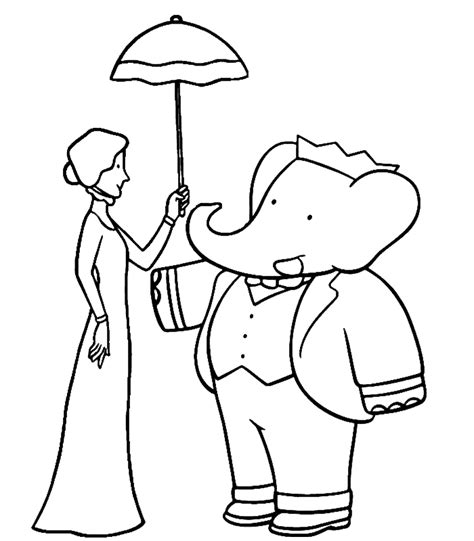 babar coloring pages coloring home