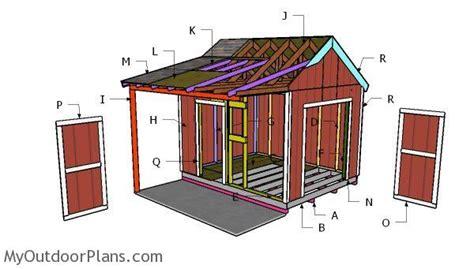 gable shed  porch roof plans myoutdoorplans