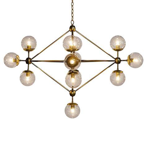 Modern White Orb Metal Chandelier Modern Antique Brass Metal Constellation Orb