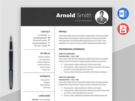 2018 Free Resume Templates Ms Word Pdf Download In 1 Minute Cv Template Word Free 2018