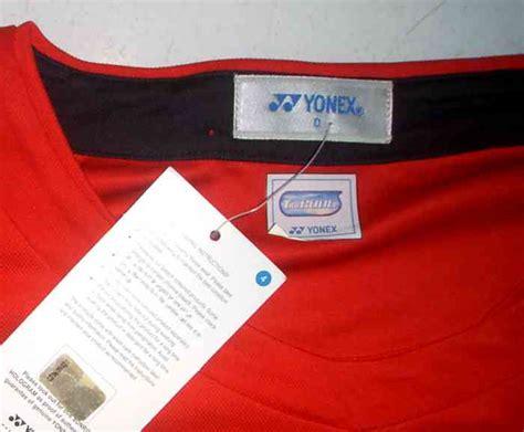 Kaos Nakal Original Carla Merah kaos kerah kaos yonex asli original merah kuning badminton tennis