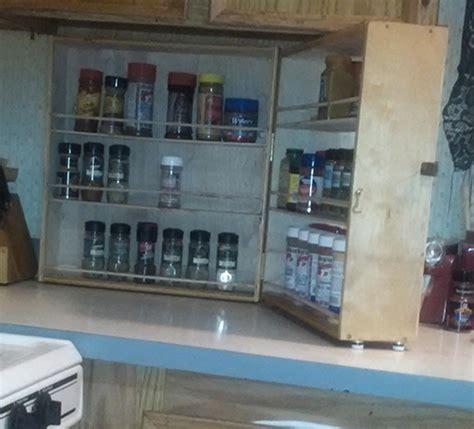 kitchen counter spice rack woodworking blog