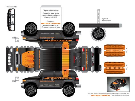 Papercraft Vehicles - click on the image to maxtrax fj cruiser paper