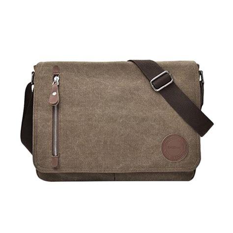 Tas Laptop Genic jual generic tas selempang laptop kanvas travel pria korea sling bag multifungsi m5 coklat