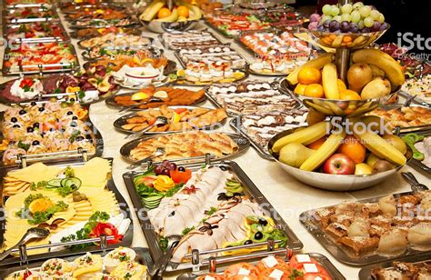 table of food catering table of appetizing foods stock photo more