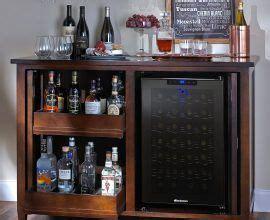 wine bar mit kühlschrank mini fridge stand with storage custom outdoor bar with