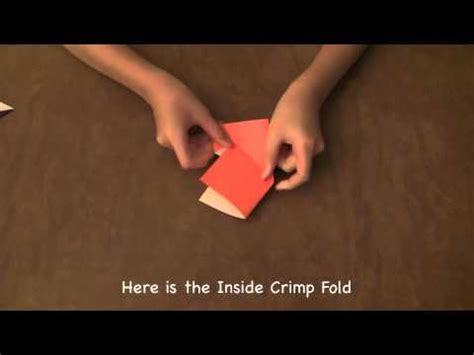 Crimp Fold Origami - theorigamiguru basic folds 3 inside outside crimp