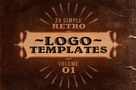Simple Retro Logo Templates V 1 Logo Templates On Creative Market Vintage Logo Template