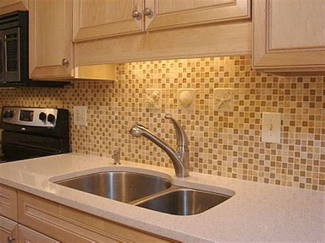 How To Tile Backsplash Kitchen by Small Box Cream Ceramic Tile Backsplash Kitchen Fres Hoom