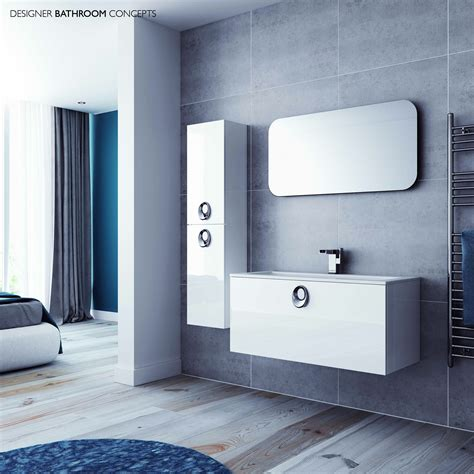designer bathroom furniture ovale designer bathroom mirror om60