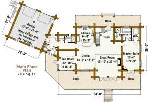 Ranch Log Home Floor Plans by Ranch Style Log Cabin Floor Plans