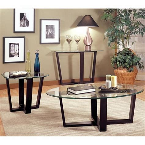 Black Glass Coffee Table Set Coaster 700275 Black Glass Coffee Table Set A Sofa Furniture Outlet Los Angeles Ca