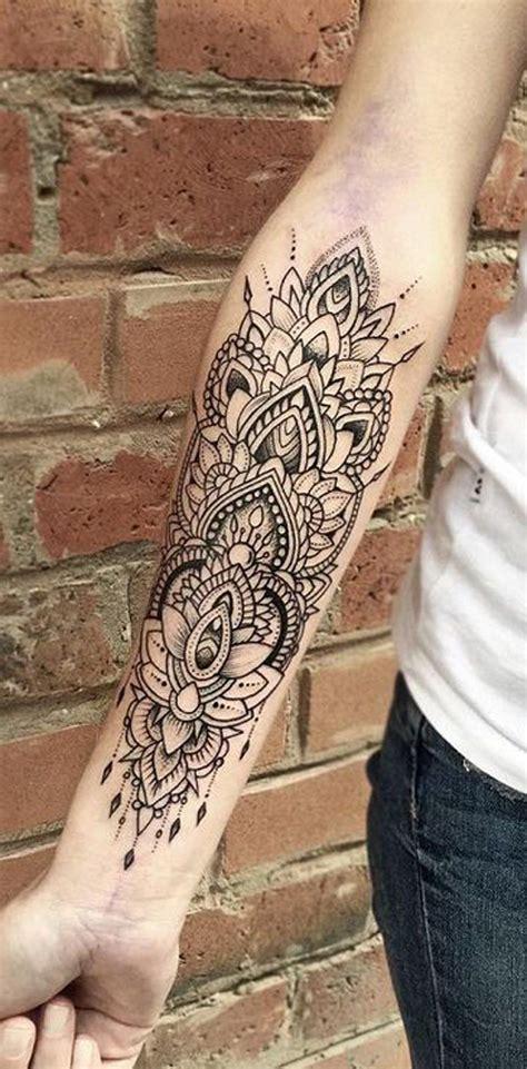 unique arm tattoo designs geometric mandala forearm ideas for lace