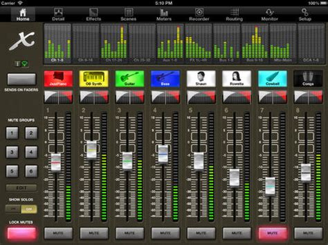 ipad mixing desk app x32 mix na app store