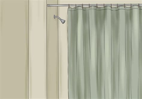 how to make shower curtains step by step how to install a shower curtain 15 steps with pictures