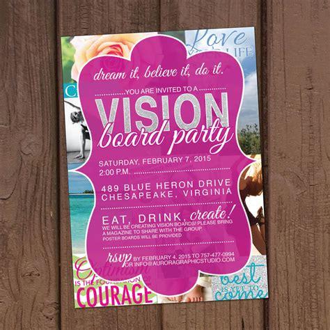 Vision Board Invitation Template Vision Board Party Invitation
