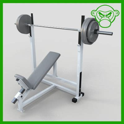 modells weight bench incline bench weight 3d model
