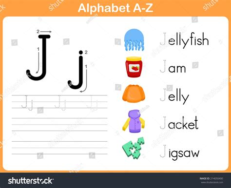 Language Letter Z alphabet tracing worksheet writing az stock vector