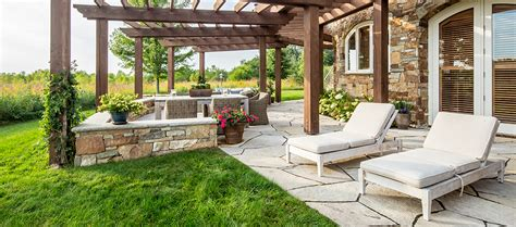 Outdoor Setting by Biota Landscapes Rustic Veranda