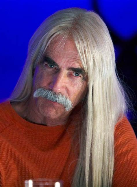 sam elliott long grey slickback hairstyle and handlebar mustache sam elliot haircut sam elliott profile sam elliott