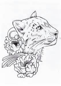tattoo sketch leopard by drak16 on deviantart