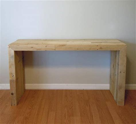 Pallet Console Table Diy Pallet Console Table 101 Pallets