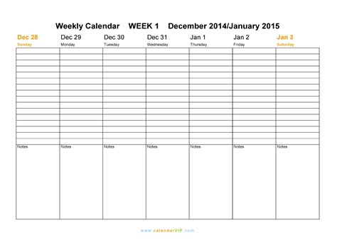 2015 weekly calendar templates weekly calendar 2015 template great printable calendars