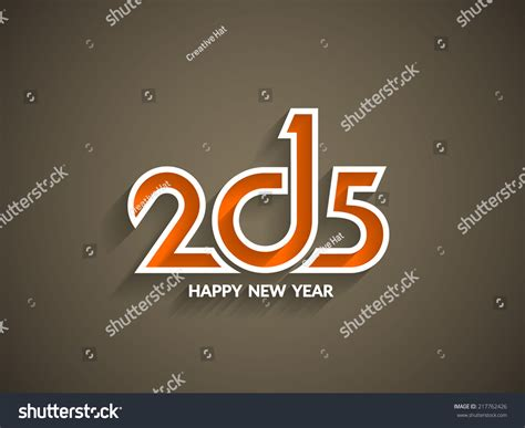 beautiful happy new year design beautiful text design happy new year stock vector