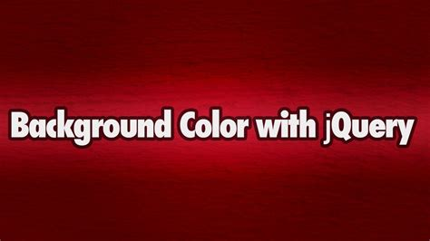 change background color with jquery