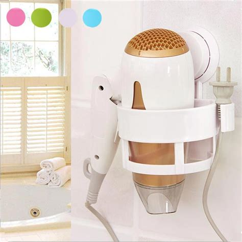 Hair Dryer Fix Ylod plastic bath hair dryer holder wall mounted fixed stand