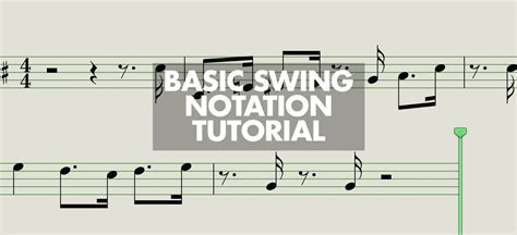 swing notation get your groove on basic swing notation ask audio
